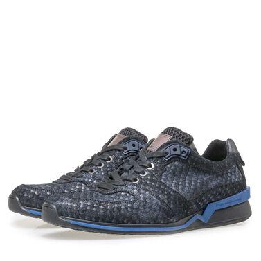Floris van Bommel suede leather snake print sneaker